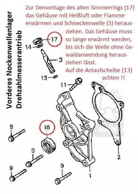 Dichtung Drehzahlmesser K640_v18