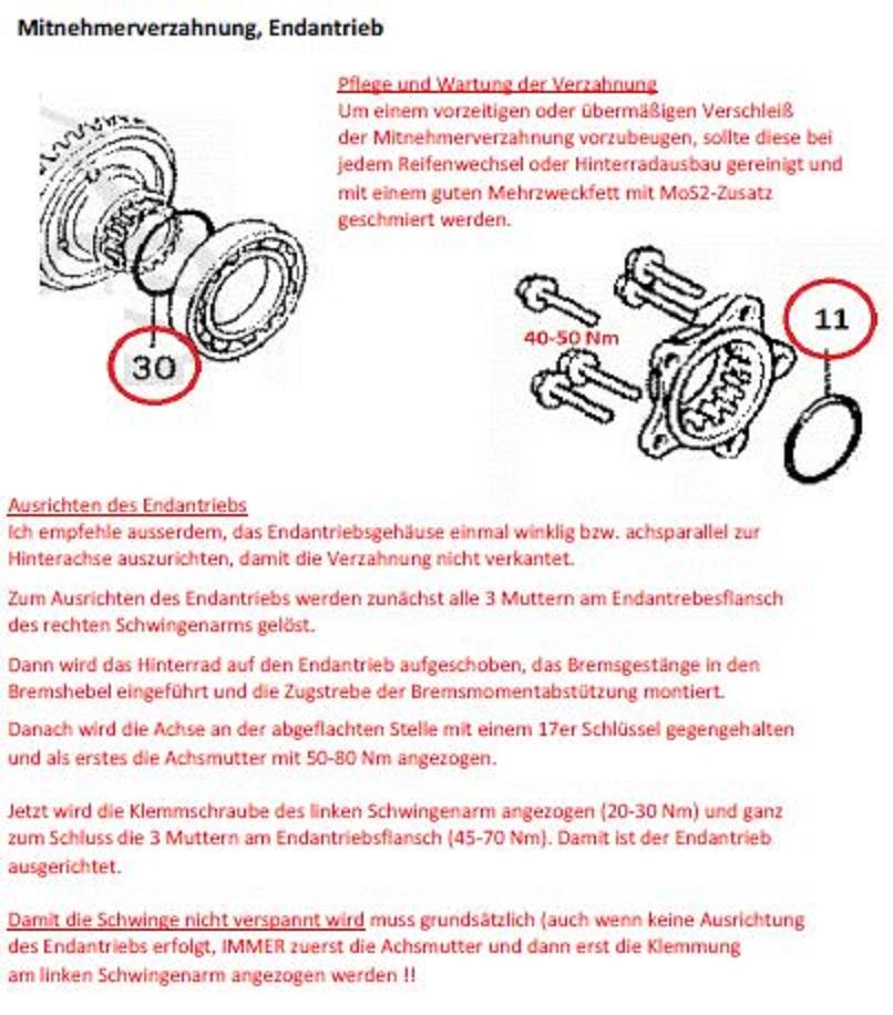 Radlagersitz Hinterrad ausgeschlagen ( Gespann) Mitneh11