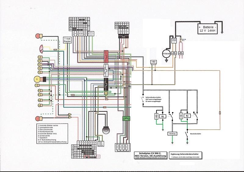 Schalter für Seitenständer Stroml16