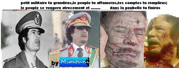Tamazight.biz deterre les grands dictateurs assassins assassinés Kadhaf10