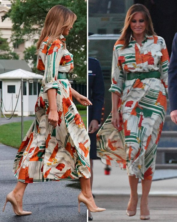 Melania Trump's London wardobe. Melani14