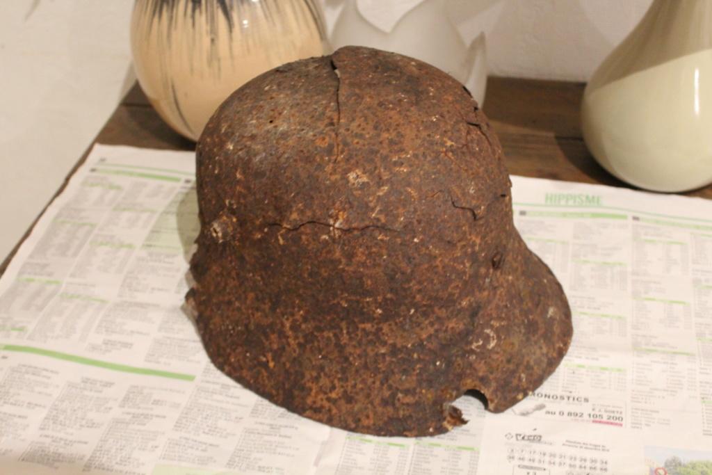 Casque allemand ww1 trouvé dans les bois  Img_8012