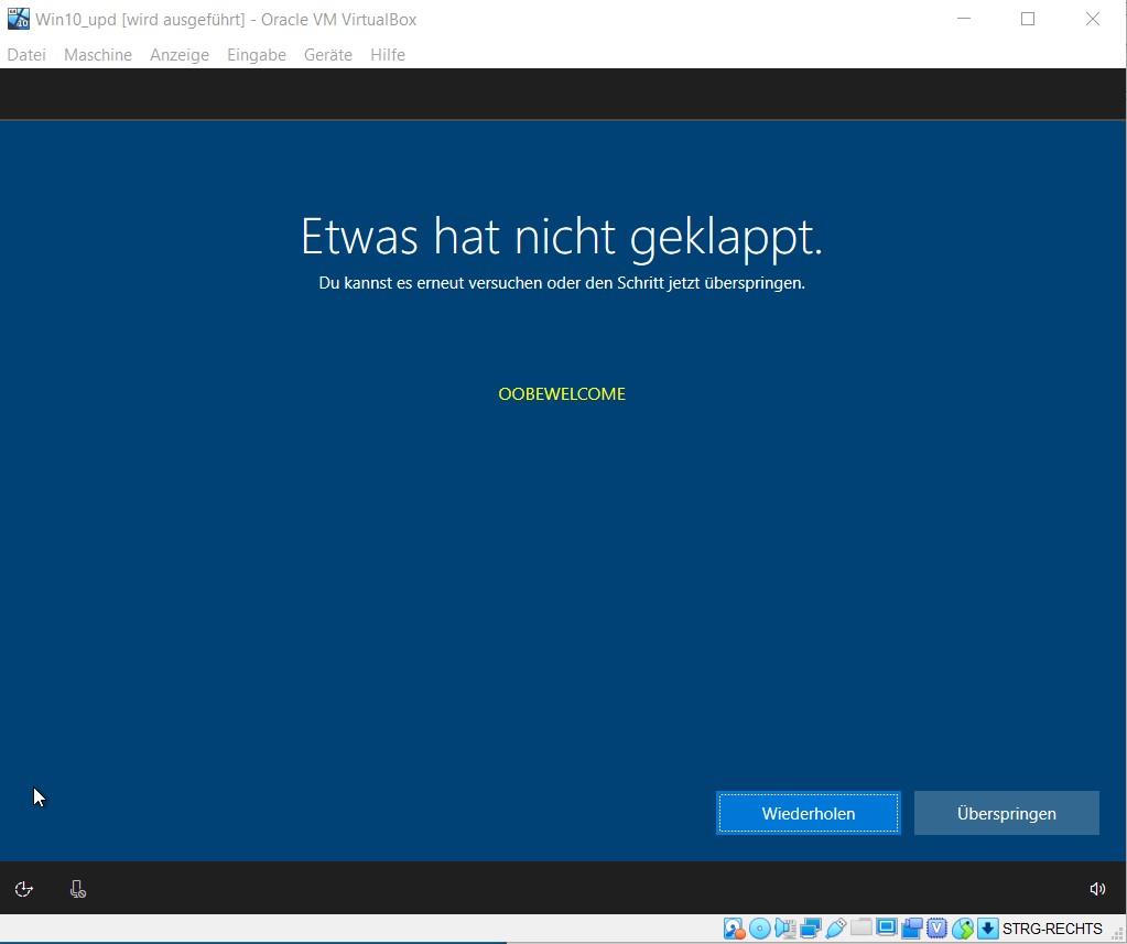 [EX-100 2.1.9.0] [RS5] Update integration fails Error18