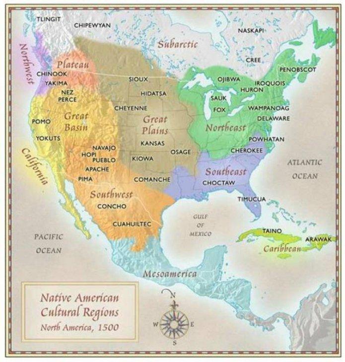 Carte des tribus Indiennes absente des livres d'histoire 211