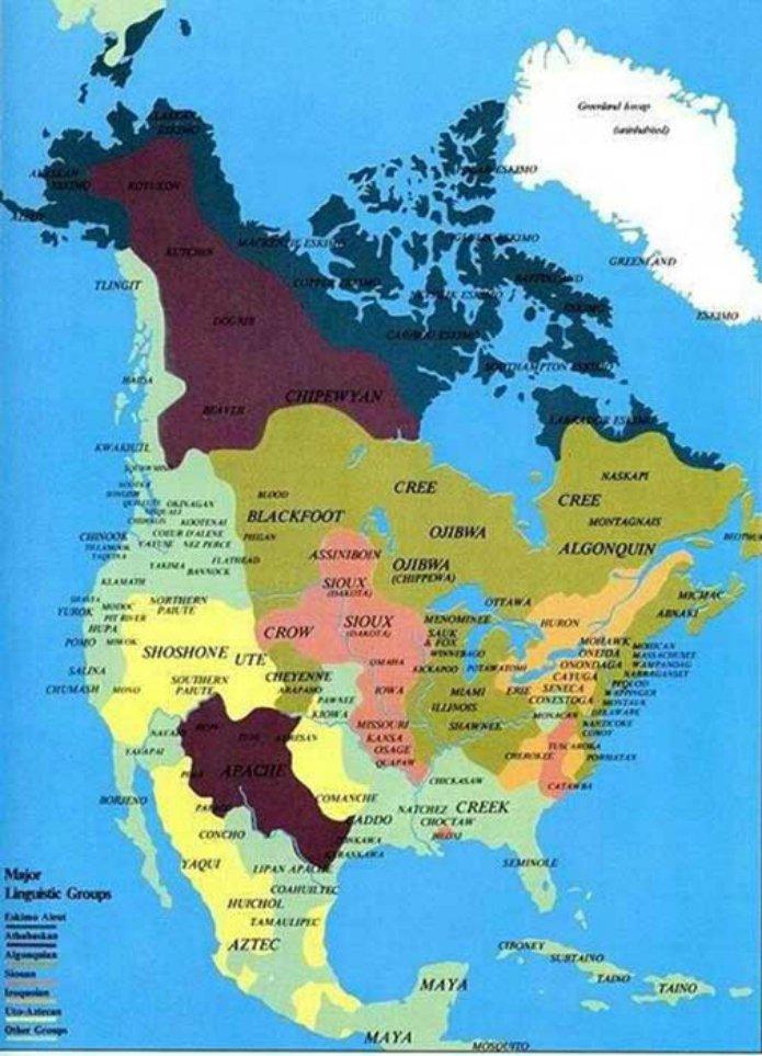 Carte des tribus Indiennes absente des livres d'histoire 212