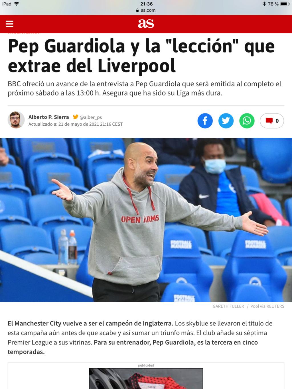 Pep Guardiola (el original, no la cover) Campeones de la Premier 2020/21!!!! Don`t look back in anger!!!!!!!!!!! - Página 3 4dffa010