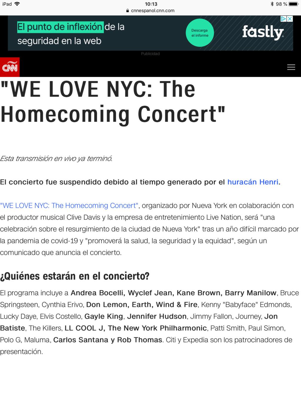 NYC Homecoming Concert ( Springsteen, Paul Simon, Journey, Costello, Patti Smith, etc). A6ba9e10