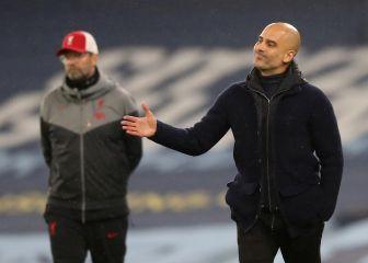 Pep Guardiola: no salieron de la cueva hasta las 22:30. Como van ganando hoy sí estarán todos fuera desde el minuto uno. C2f07510