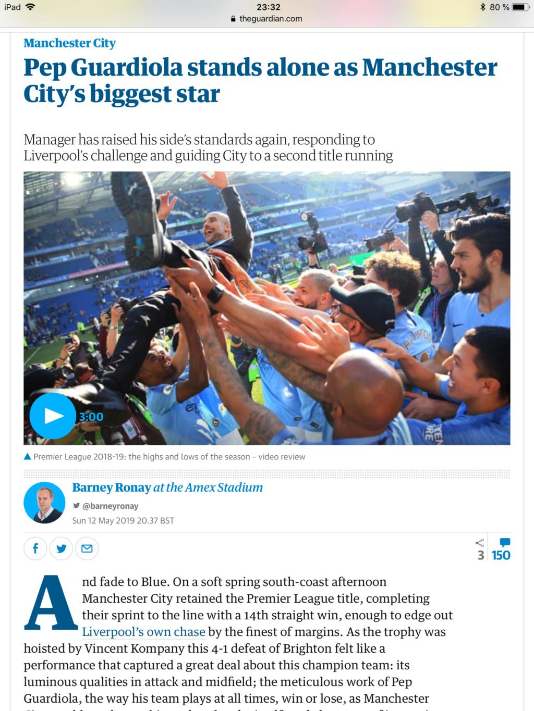 Pep Guardiola firma la mejor temporada de la historia del fútbol inglés pero en la shempions... - Página 7 Dbedff10