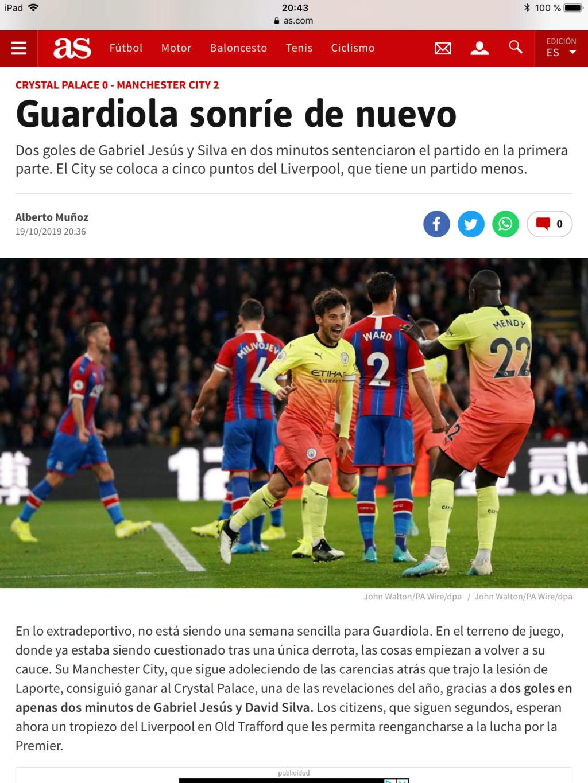 Pep Guardiola: Winter is Coming. Cae en el derbi de Manchester y se queda a 14 del líder de la Premier. La Premier - Página 6 E751d010