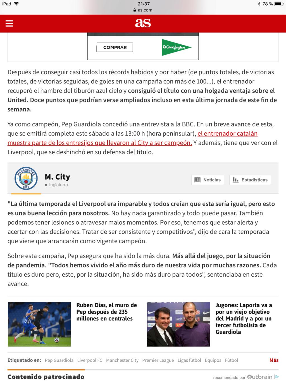 Pep Guardiola (el original, no la cover) Campeones de la Premier 2020/21!!!! Don`t look back in anger!!!!!!!!!!! - Página 3 Fe975c10