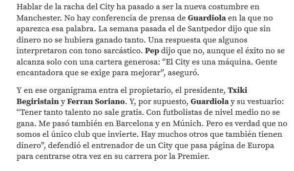 Pep Guardiola: no salieron de la cueva hasta las 22:30. Como van ganando hoy sí estarán todos fuera desde el minuto uno. - Página 9 Scre1357