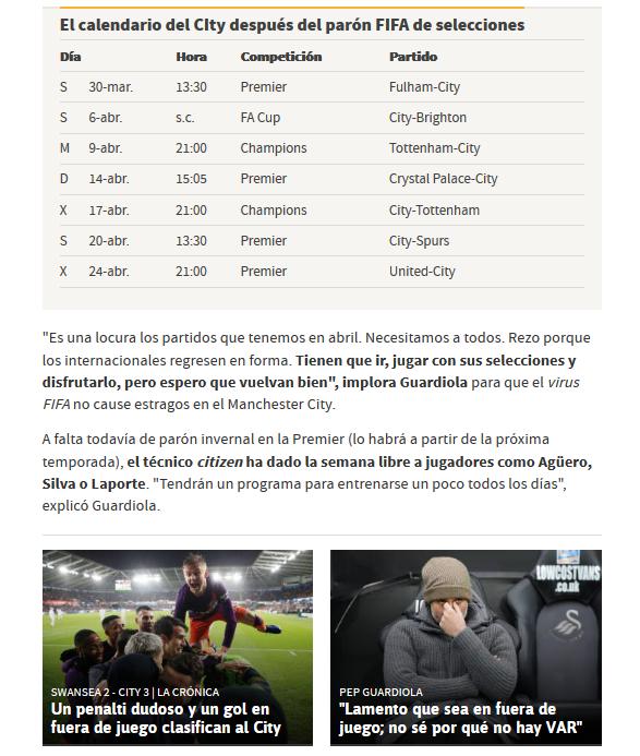 """Pep Guardiola: """"I am for fair football, for fair decisions"""" I'm sorry - Página 4 Scree267"""