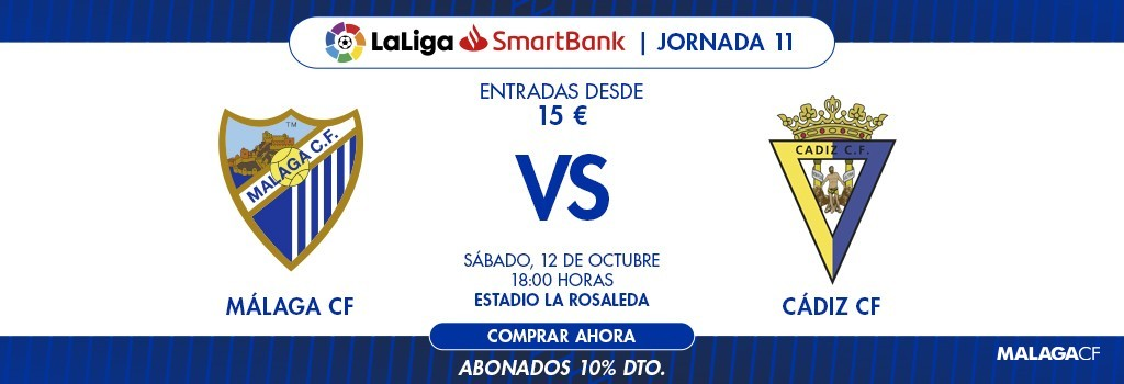 [J11] Málaga C.F. - Cádiz C.F. - Sábado 12/10/2019 18:00 h. #MálagaCádiz 1024x812