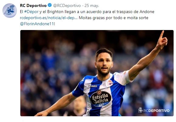 Altas y Bajas confirmadas Liga 1.2.3 Temporada 2018-2019 Andone10