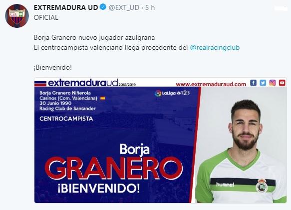 Altas y Bajas confirmadas Liga 1.2.3 Temporada 2018-2019 - Página 2 Borja_14