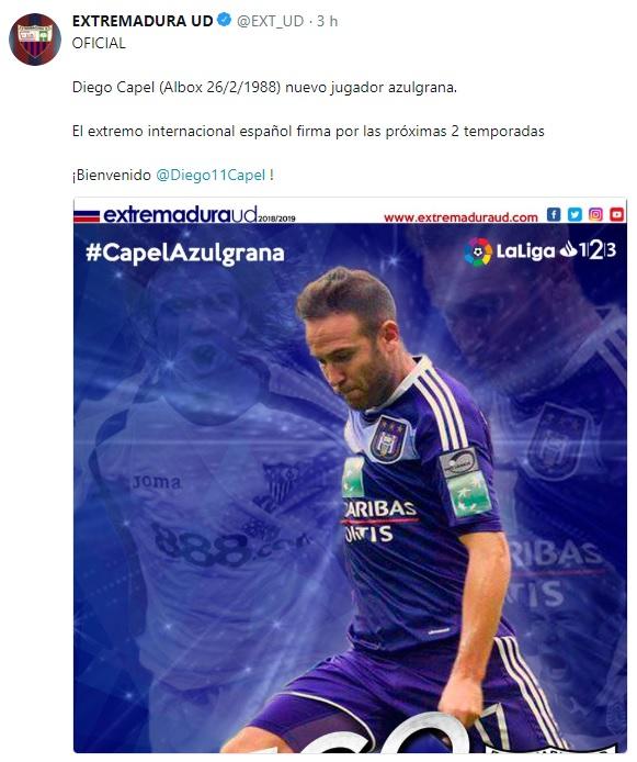 Altas y Bajas confirmadas Liga 1.2.3 Temporada 2018-2019 - Página 2 Capel10