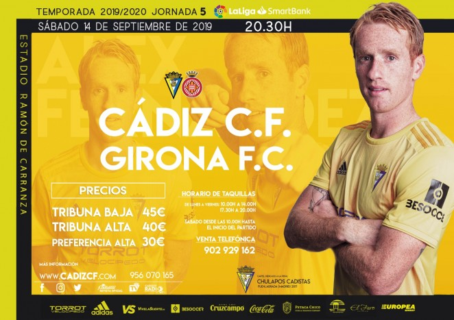 [J05] Cádiz C.F. - Girona F.C. - Sábado 14/09/2019 20:30 h. #CádizGirona Cartel16