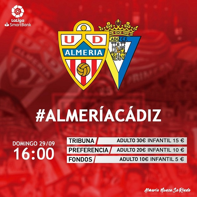 [J08] U.D. Almería - Cádiz C.F. - Domingo 29/09/2019 16:00 h. #AlmeríaCádiz Cartel19