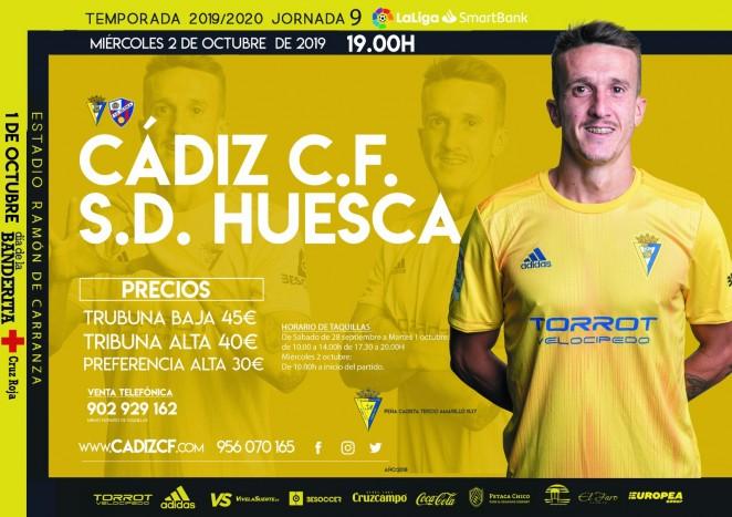 [J09] Cádiz C.F. - S.D. Huesca - Miércoles 02/10/2019 19:00 h. #CádizHuesca Cartel20
