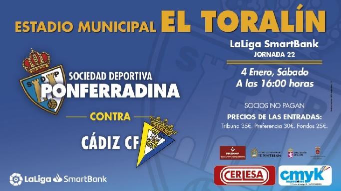 [J22] S.D. Ponferradina - Cádiz C.F. - Sábado 04/01/2020 16:00 h. #PonferradinaCádiz Cartel25