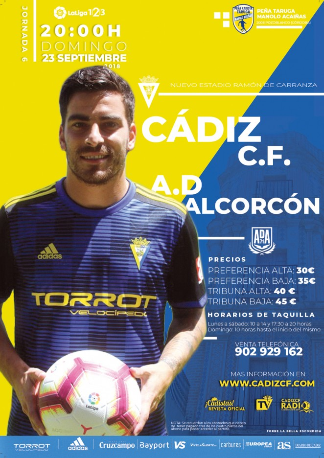 [J06] Cádiz C.F. - A.D. Alcorcón - Domingo 23/09/2019 20:00 h. Czediz13