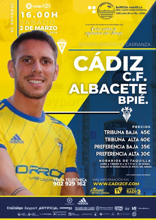 [J28] Cádiz C.F. - Albacete B. - Sábado 02/03/2019 16:00 h. Czediz38