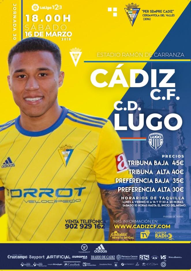 [J30] Cádiz C.F. - C.D. Lugo - Sábado 16/03/2019 18:00 h. #CádizLugo Czediz40