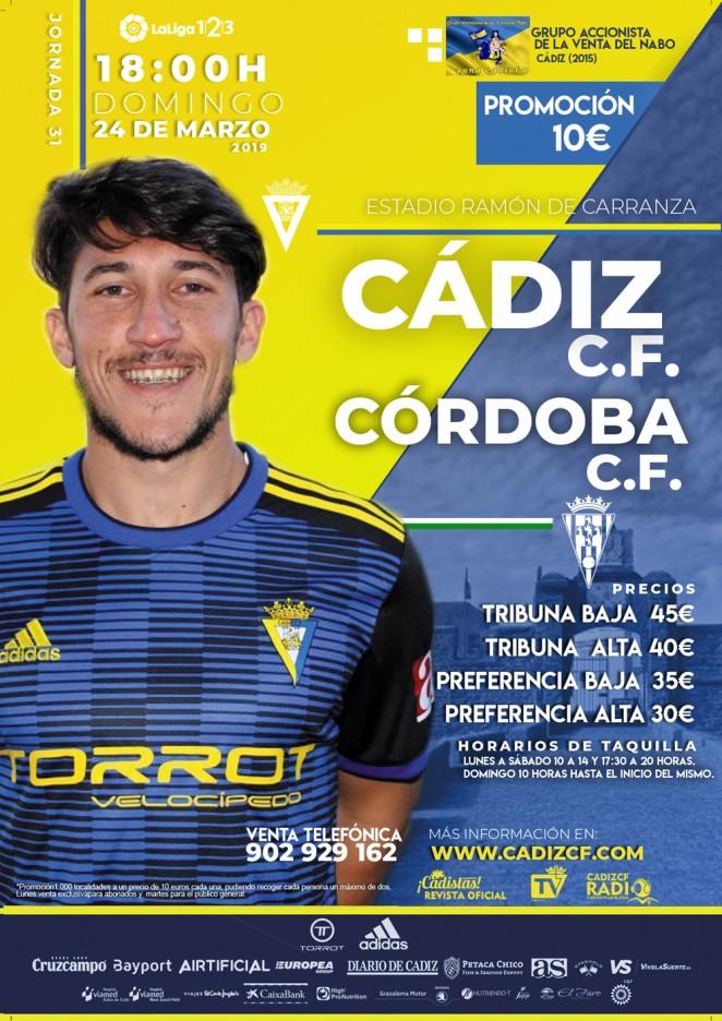 [J31] Cádiz C.F. - Córdoba C.F. - Domingo 24/03/2019 18:00 h.#CádizCórdoba Czediz46