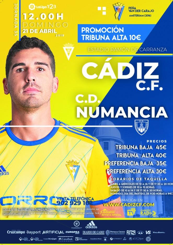 [J35] Cádiz C.F. - C.D. Numancia - Domingo 21/04/2019 12:00 h. #CádizNumancia Czediz50
