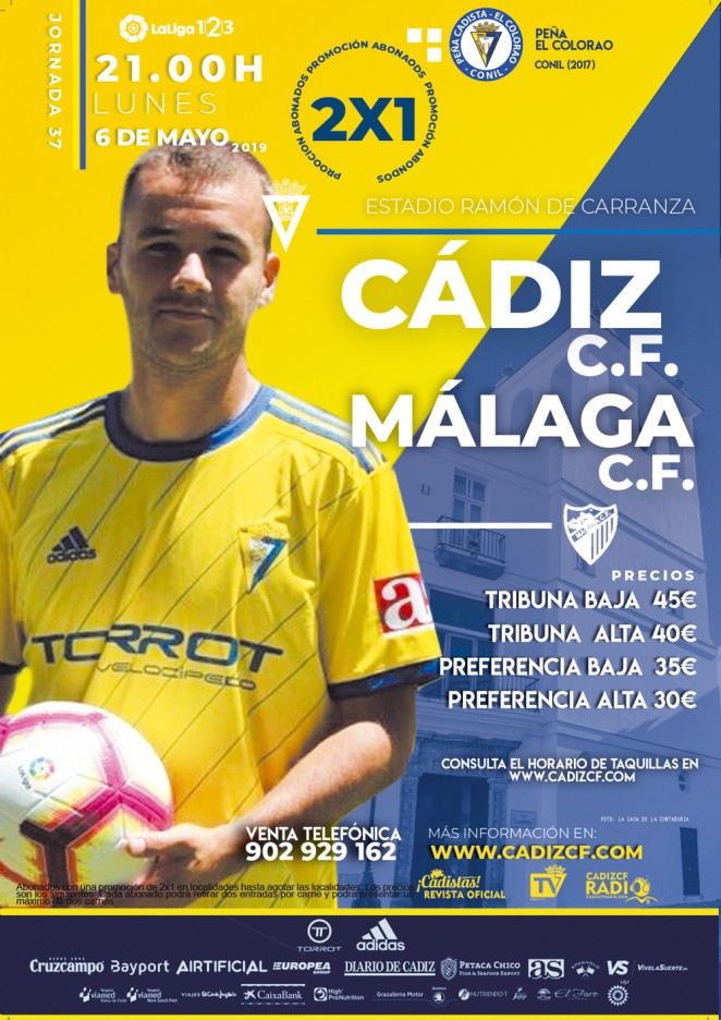 [J37] Cádiz C.F. - Málaga C.F. - Lunes 06/05/2019 21:00 h. #CádizMálaga Czediz52