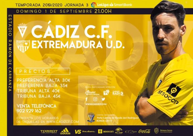 [J03] Cádiz C.F. - Extremadura U.D. - Domingo 01/09/2019 21:00 h. #CádizExtremadura Czediz57