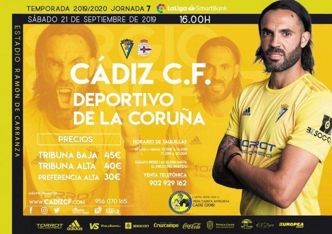 [J07] Cádiz C.F. - R.C. Deportivo de La Coruña - Sábado 21/09/2019 16:00 h. #CádizDépor Czediz58