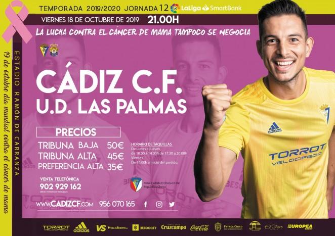 [J12] Cádiz C.F. - U.D. Las Palmas - Viernes 18/10/2019 21:00 h. #CádizLasPalmas Czediz60
