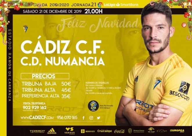 [J21] Cádiz C.F. - C.D. Numancia - Sábado 21/12/2019 21:00 h. #CádizNumancia Czediz64