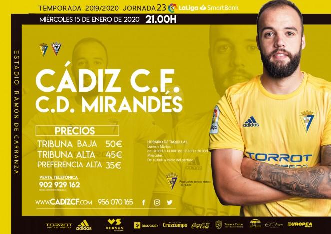 [J23] Cádiz C.F. - C.D. Mirandés - Miércoles 15/01/2020 21:00 h. #MirandésCádiz Czediz65