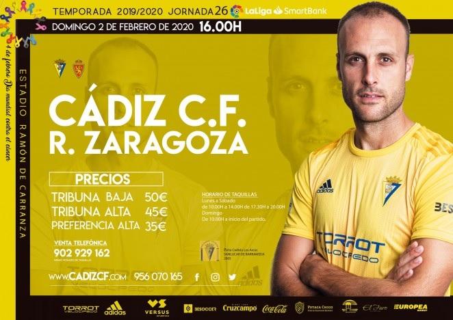 [J26] Cádiz C.F. - R. Zaragoza - Domingo 02/02/2020 16:00 h. #CádizZaragoza Czediz66