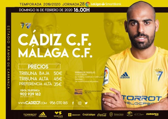 [J28] Cádiz C.F. - Málaga C.F. - Domingo 16/02/2020 16:00 h. #CádizMálaga Czediz67