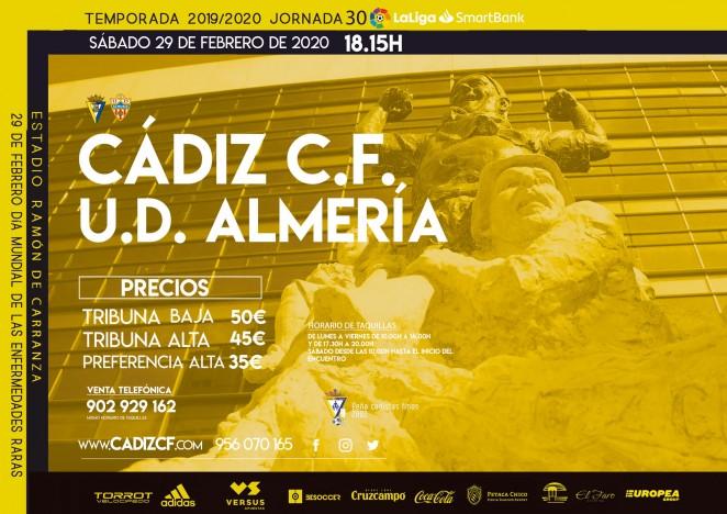[J30] Cádiz C.F. - U.D. Almería - Sábado 29/02/2020 18:15 h. #CádizAlmería Czediz68