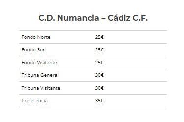 [J02] C.D. Numancia - Cádiz C.F. - Sábado 25/08/2018 19:00 h. Entrad10