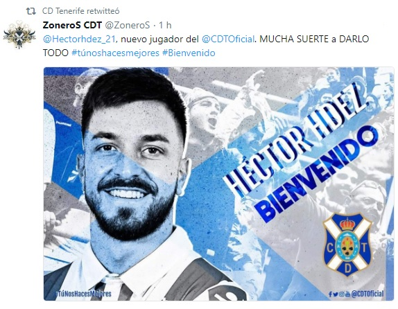 Altas y Bajas confirmadas Liga 1.2.3 Temporada 2018-2019 - Página 3 Hector11