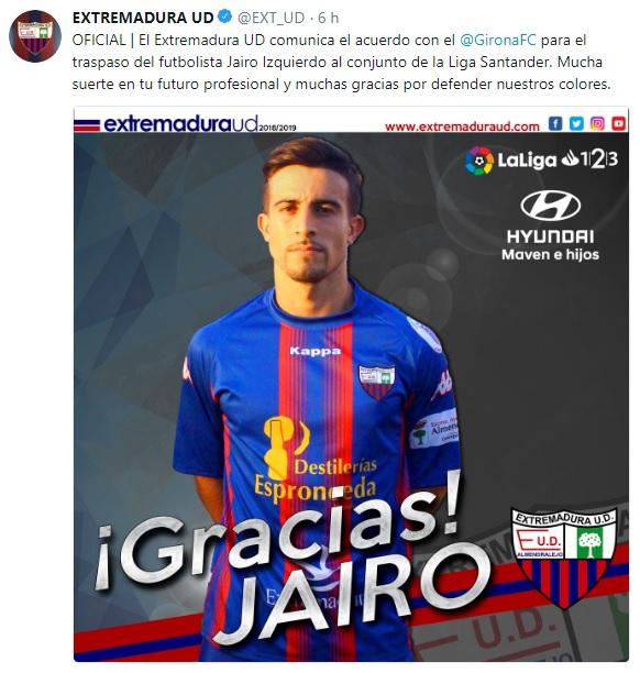 Altas y Bajas confirmadas Liga 1.2.3 Temporada 2018-2019 - Página 2 Jairo10
