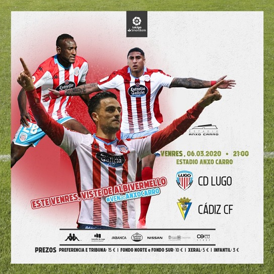 [J31] C.D. Lugo - Cádiz C.F. - Viernes 06/03/2020 21:00 h. #LugoCádiz Sin_tz17