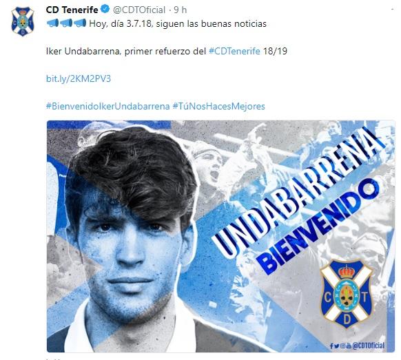 Altas y Bajas confirmadas Liga 1.2.3 Temporada 2018-2019 Undaba10