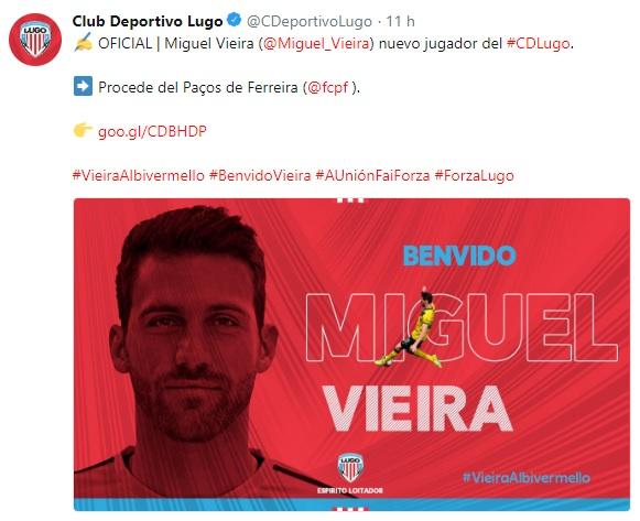Altas y Bajas confirmadas Liga 1.2.3 Temporada 2018-2019 Vieira11
