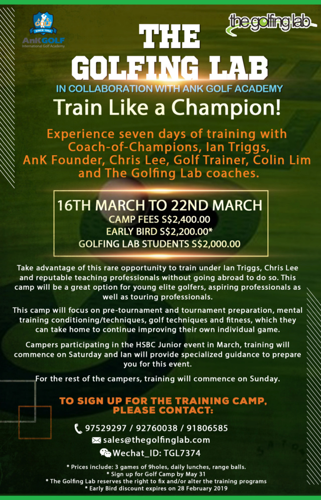 Coach-of-Champions, Ian Triggs, will be at The Golfing Lab on 16th -22nd March 2019 Golf_n12