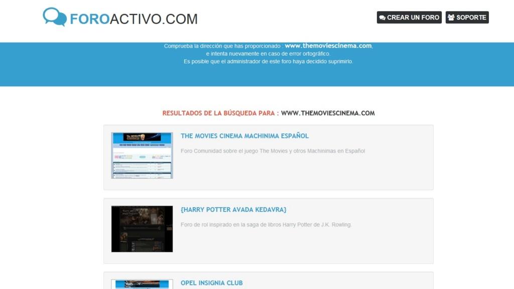 ¿Ha cambiado la dirección de la página themoviescinema.com? Loque_10