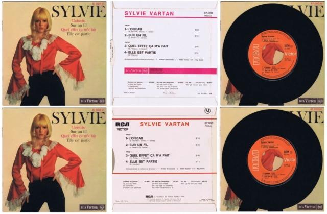 REEDITIONS DES 45 T DE SYLVIE EN LABEL ORANGE 2911