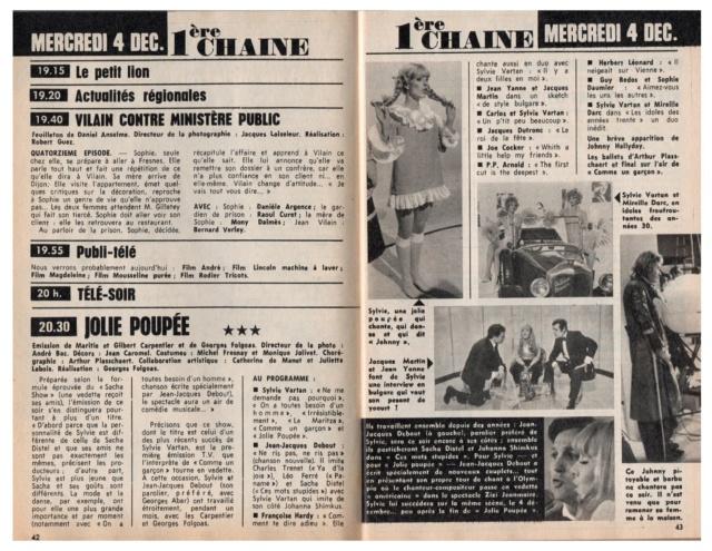 Télé Poche n° 146 du 27 novembre 1968 - Page 2 Tp_19619