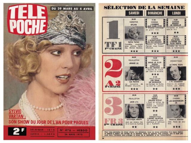 Télé Poche n°476 du 20 mars 1975 Tp_19737